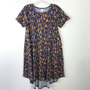 LuLaRoe Carly A-Line Shirt Dress Leaves #1227